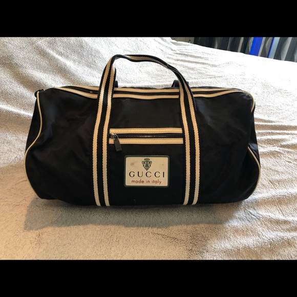 dcd984c3c215 Gucci Bags | Vintage Authentic Nylon Duffle Bag | Poshmark